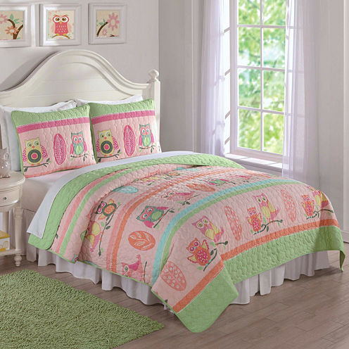 Laura Hart Owl Stripe Quilt Set