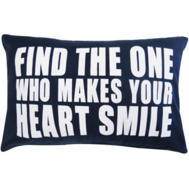jcpenney.com | Park B. Smith® Find The One Who Makes Your Heart Smile Decorative Pillow