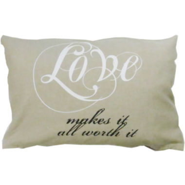 jcpenney.com | Park B. Smith® Love Makes It Worth It Decorative Pillow