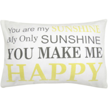 jcpenney.com | Park B. Smith® You Are My Sunshine Yellow Font Decorative Pillow
