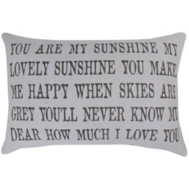 jcpenney.com | Park B. Smith® You Are My Sunshine Lovely Sunshine Decorative Pillow
