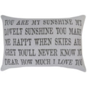 Park B. Smith® You Are My Sunshine Lovely Sunshine Decorative Pillow
