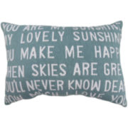 Park B. Smith® You Are My Sunshine Large Print Decorative Pillow