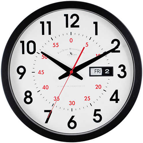 FirsTime® Day Date Wall Clock