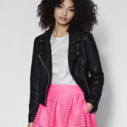 BELLE + SKY™ Faux-Leather Moto Jacket