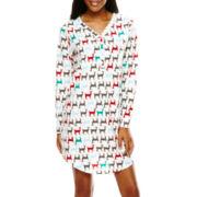 Hanes® Long-Sleeve Knit Nightshirt
