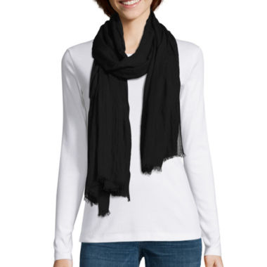 jcpenney.com | Mixit Solid Essential Raw Edge Scarf