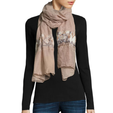 jcpenney.com | Flower Embroidered Scarf