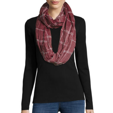jcpenney.com | Windowpane Loop Striped Scraf
