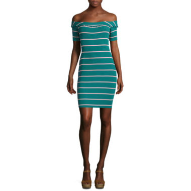 jcpenney.com | Decree Rib Off Shoulder Bodycon Dress - Juniors