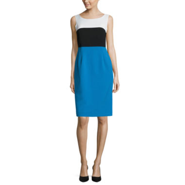 jcpenney.com | Black Label by Evan-Picone Sleeveless Colorblock Sheath Dress
