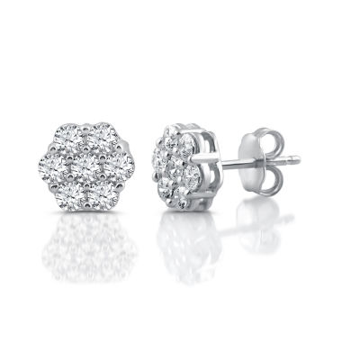 jcpenney.com | Diamond Blossom 1 CT. T.W. Round White Diamond 10K Gold Stud Earrings