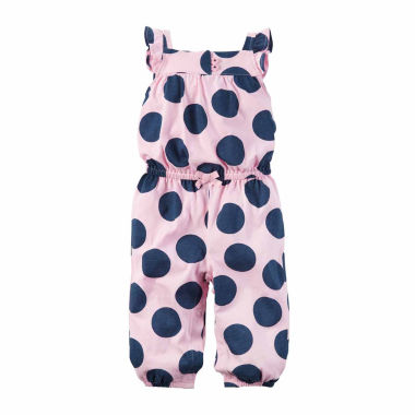 jcpenney.com | Carter'S 1Pc Jumpsuit Pink Navy Dot- Baby