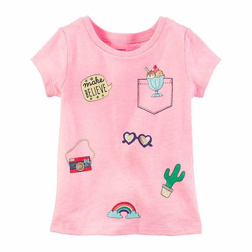Carter's Short Sleeve T-Shirt-Baby Girls