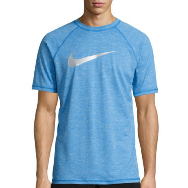 jcpenney.com | Nike Solid Heather Short Sleeve Swim Tee 40+ UPF Protection