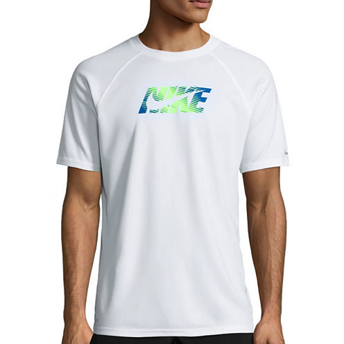 Nike Beam Short Sleeve Swim Tee 40+ UPF Protection