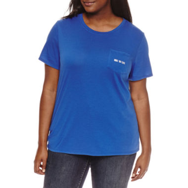 "jcpenney.com | Arizona ""You're too close"" or ""Unbothered"" Graphic T-Shirt- Juniors Plus"