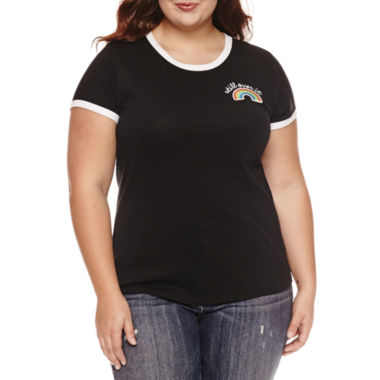 "jcpenney.com | Arizona ""Still over it"" or ""Perfectly imperfect"" Graphic T-Shirt- Juniors Plus"