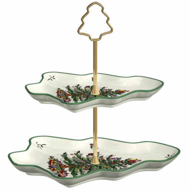jcpenney.com | Spode Christmas Tree 2-Tiered Server