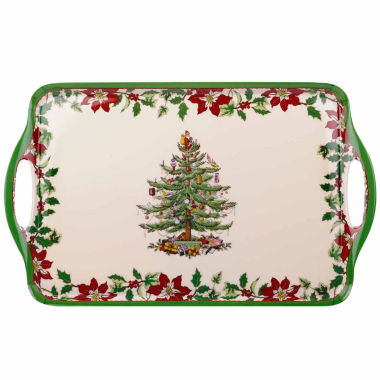 jcpenney.com | Spode Christmas Tree Melamine Tray With Handle  Poinset