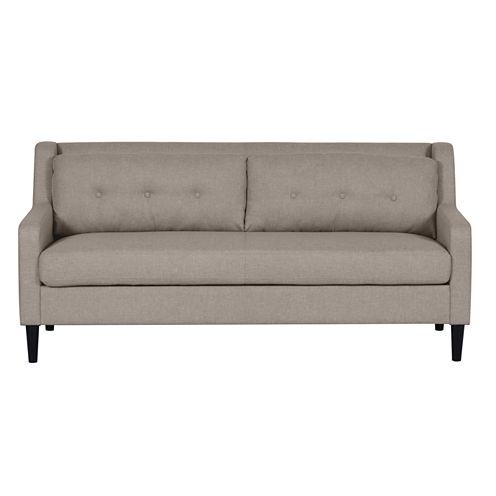 Home Meridian Fabric Track-Arm Sofa