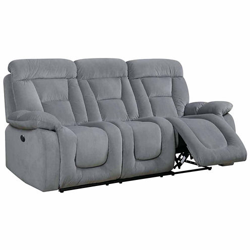 Sekovitch Transitional Fabric Pad-Arm Sofa