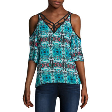 jcpenney.com | nicole by Nicole Miller Lattice Trim Top