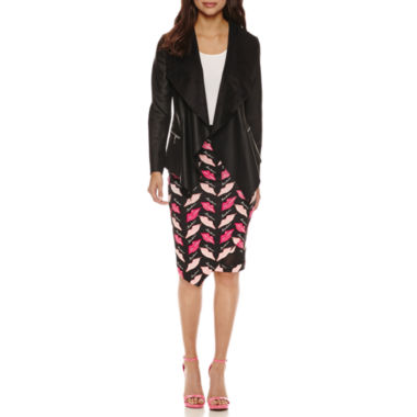 jcpenney.com | Bisou Bisou Draped Jacket or Assymetrical Mesh Insert Skirt