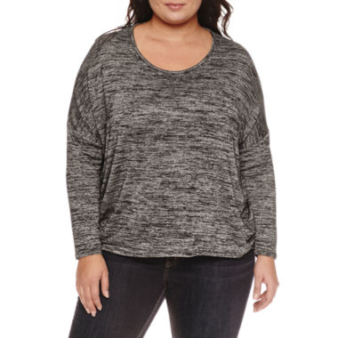jcpenney.com | Boutique + Long Sleeve Scoop Neck T-Shirt-Plus