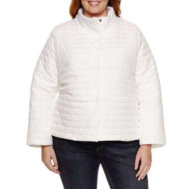jcpenney.com | Liz Claiborne Puffer Swing Coat-Plus Jacket