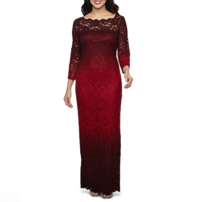 Blu Sage Long Sleeve Evening Gown