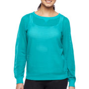 Xersion™ Open Work Sweatshirt - Tall