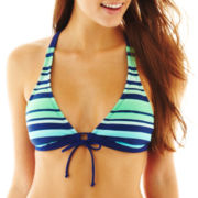 Arizona Striped Banded Halter Swim Top