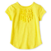 Okie Dokie® Ruffled Tee - Girls 12m-6y