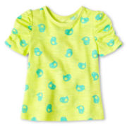 Okie Dokie® Ruched-Sleeve Tee - Girls 12m-6y