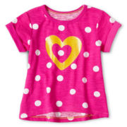 Okie Dokie® High-Low Tee - Girls 12m-6y