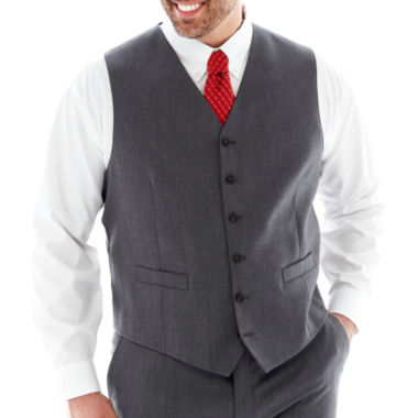 jcpenney.com | Stafford Super 100's Suit Vest - Big & Tall - Grey