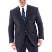 Claiborne® Navy Sharkskin Suit Jacket - Big & Tall