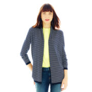 Joe Fresh™ Striped Shawl-Collar Cardigan