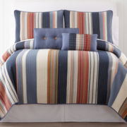 Desert Retro Chic Striped Quilt & Accessories