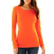 jcp™ Long-Sleeve Crewneck Tee - Talls