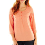 St. John's Bay® 2-Pocket Popover Top