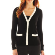 Liz Claiborne Double-Pocket Cardigan - Talls