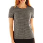 Liz Claiborne Short-Sleeve Dot Print Tee