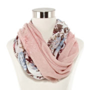 Mixed Floral Loop Scarf