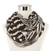 Pleated Striped Infinity Scarf
