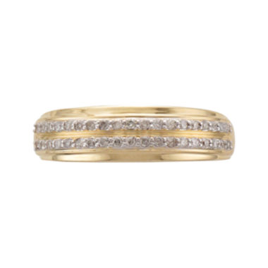 jcpenney.com | Mens 1/3 CT. T.W. Diamond 14K Yellow Gold Wedding Band