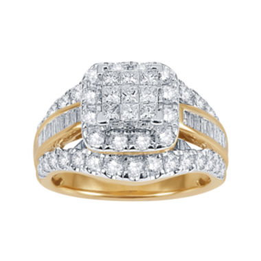 jcpenney.com | 2 CT. T.W. Diamond 14K Yellow Gold Multi-Top Ring