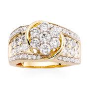 2 CT. T.W. Diamond 14K Yellow Gold Swirl Ring