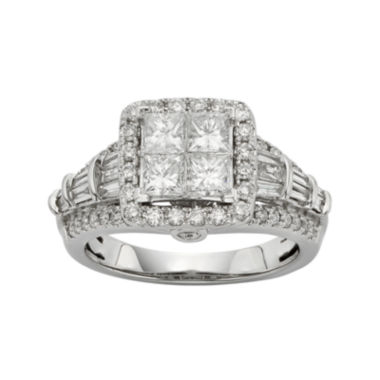 jcpenney.com | 1½ CT. T.W. Diamond 10K White Gold Quad Princess Ring